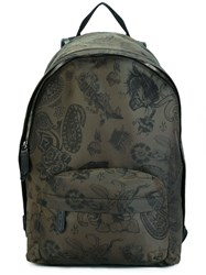 Etro Paisley Print Backpack Green
