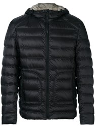 Belstaff Hooded Down Jacket Men Feather Down Nylon 48 Black