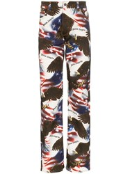 Palm Angels Eagle Print Stars And Stripes Jeans Multicolour