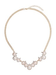 Mikey Pearl Crystal Round Disc Linked Necklace