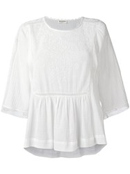 Masscob Broderie Anglaise Blouse White