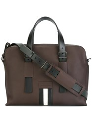 Bally Zipped Shoulder Bag Brown