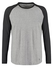 Jack And Jones Jack And Jones Jjorstan Long Sleeved Top Light Grey Melange Mottled Light Grey