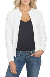1.State Women's Eyelet Cotton Bomber Jacket