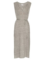 Velvet By Graham And Spencer Bethzy Linen Dress Grey
