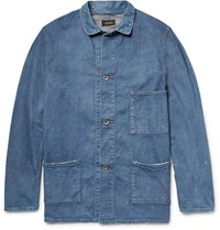 Chimala Distressed Washed Denim Chore Jacket Mid Denim