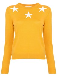 Guild Prime Star Print Sweater Yellow And Orange