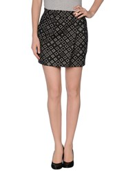 Pinko Grey Skirts Mini Skirts Women Black
