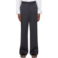 Vetements Navy Pinstripe Relaxed Trousers