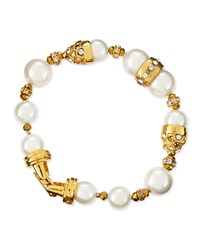 10 And 12Mm Pearl Beaded Bracelet Jose And Maria Barrera White