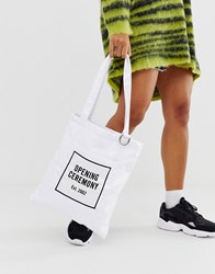 Opening Ceremony Classic Cotton Tote Bags White