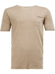 Roberto Collina Chest Pocket T Shirt Nude Neutrals