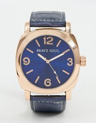 Brave Soul Watch With Navy Strap And Dial Blue