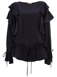 Lanvin Ruffled Sleeve Blouse Blue