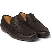 Harry's Of London Harrys Basel 4 Grained Leather Penny Loafers Dark Brown