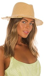 Hat Attack Fringe Travel In Tan. Toast And Blush