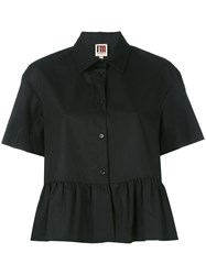 I'm Isola Marras Ruffled Shortsleeved Shirt Black
