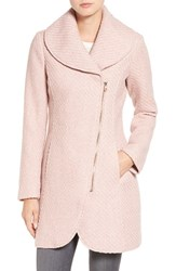 Jessica Simpson Women's Shawl Collar Coat Rose
