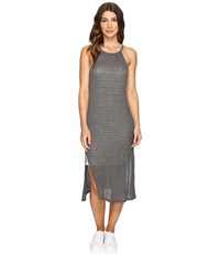 Brigitte Bailey Alette Halter Midi W Stripe Detail Med Heather Grey Women's Dress Pewter