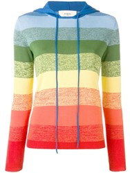 Ports 1961 Rainbow Striped Knitted Top Orange