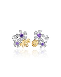 Wonderland Sapphire And Diamond Orchid Earrings Mimi So Blue