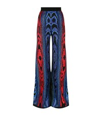 Balmain Wide Leg Jacquard Trousers Female Multi