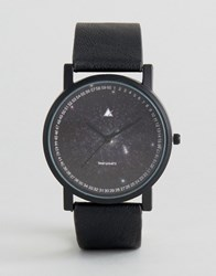 Asos Watch With Cosmic Print Face Black