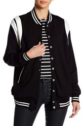 Harlowe And Graham Varsity Bomber Jacket Black