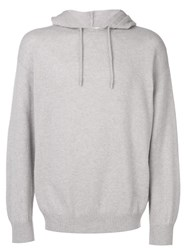 Pringle Of Scotland Plain Hoodie Grey