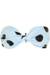 Marc By Marc Jacobs Misty Polka Dot Pu Bandeau Top Blue