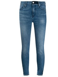 Rta Cropped Skinny Jeans Blue