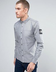 The North Face Denali Oxford Shirt Buttondown Sleeve Logo In Navy Urban Navy