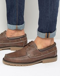 New Look Boat Shoes In Brown