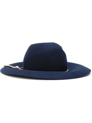 Lanvin Snake Chain Trim Hat Blue