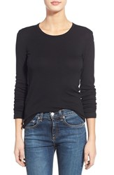 Women's Splendid Long Sleeve Crewneck Tee Black