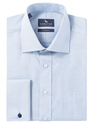Chester Barrie By Oxford Tailored Long Sleeve Shirt Blue