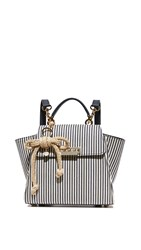 Zac Posen Eartha Striped Convertible Backpack Navy