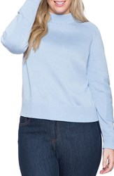 Plus Size Women's Eloquii Ottoman Detail Mock Neck Sweatshirt