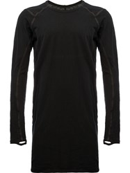 Isaac Sellam Experience Leather Trim T Shirt Black