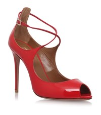 Aquazzura Zani Peep Toe Pumps 105 Female Red