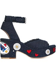 Laurence Dacade 'Happoline Pop' Sandals Blue