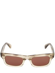 Oliver Peoples Jaye Square Bolded Acetate Sunglasses Clear