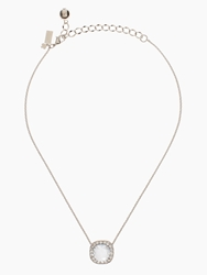 Kate Spade Basket Pave Pendant Clear Silver