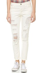 Siwy Laura Boy Straight Jeans Off White