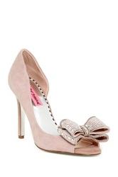 Betsey Johnson Glendah Bow Peep Toe Pump Red