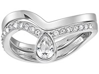 Michael Kors Brilliance Powerful Romance Pave Double Stack Ring Silver Ring