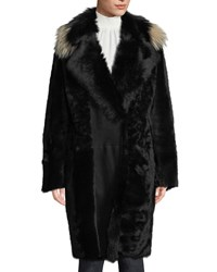 Kobi Halperin Miranda Long Fur Coat Black