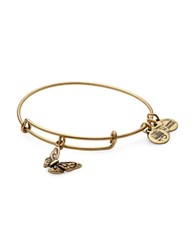 Alex And Ani Butterfly Charm Bracelet Gold