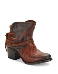Freebird Casey Leather Ankle Boots Cognac