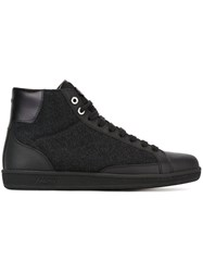 Brioni Textured Hi Top Sneakers Black